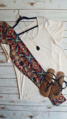 Beautiful LuLaRoe outfit!  #lularoe #lularoeclassictee #lularoeshannonroute