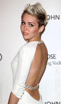 I'm not a Miley fan but I do I like her hair in this pic.
