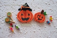 Happy halloween | Cute, lovely paper Quilling by my dear sis… | Flickr