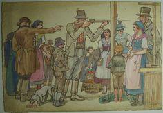Franz Kuna, Schießstand, Jahrmarkt, ca 1920, Mischtechnik, Oberösterreich de.picclick.com