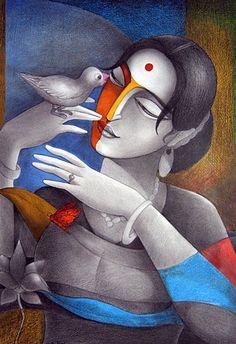 R.D. Roy | Paintings by R.D. Roy | R.D. Roy Painting - SuchitrraArts.com