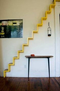 Stairs in a wall