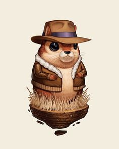 Mike Mitchell - CHIPMUNK WITH HAT AND JACKET