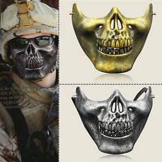 Costume Halloween Party Airsoft Motorcycle Skeleton Half Face Masks Skull Mask