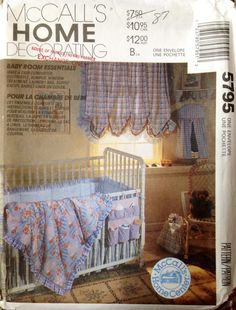 McCall's Home Decorating 5795 UNCUT Baby Room Essentials by Lonestarblondie on…