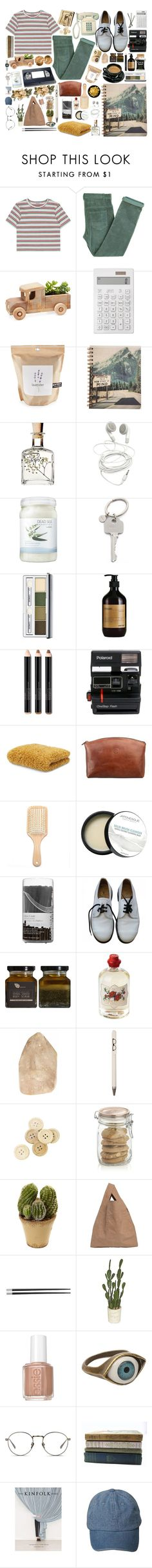 """""""State of mind."""" by anexushill ❤ liked on Polyvore featuring Laurence Doligé, Muji, Potting Shed Creations, Ahava, Paul Smith, Clinique, Smashbox, Polaroid, Abyss and Maxwell Scott Bags"""
