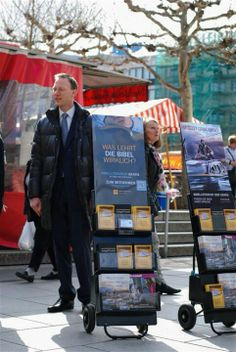 Frankfurt Germany -- Publicly sharing The Good News of God's Kingdom see more at JW.org --