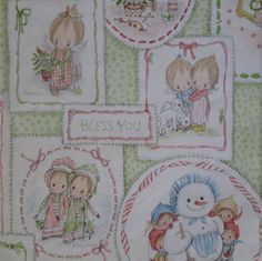 Vintage Hallmark Betsy Clark Christmas wrapping paper