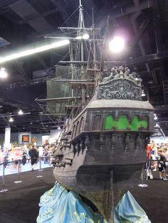 Black Pearl pirate ship miniature rear