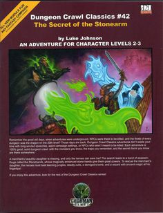 DCC THE SECRET OF THE STONEARM Dungeon Crawl Classic #42 Dungeons & Dragons D&D #GoodmanGames