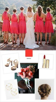 papaya bridesmaid inspiration