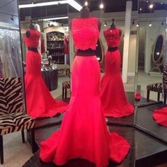 Find More Prom Dresses Information about New Arrival Two Piece Red Lace Prom Dresses 2016 Off the Shoulder Long Court Train Mermaid Formal Dress Wedding Event Dress,High Quality dress fitness,China dress up wedding dresses Suppliers, Cheap dress apple from Kingshow Bridal on Aliexpress.com