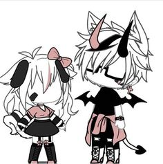 Chibi Girl Drawings, Kawaii Drawings, Cute Drawings, Bad Girl Outfits, Couple Outfits, Club Outfits, Drawing Anime Clothes, Manga Clothes, Cute Anime Character