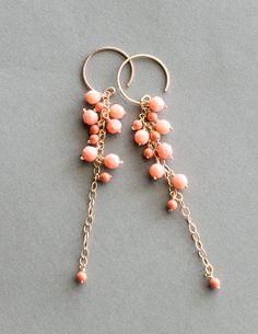Noon Vine Nouveaus Coral Earrings - Pigment