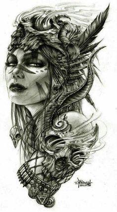 Image result for female warrior goddess tattoo designs