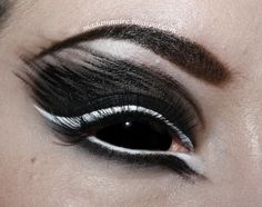"""This is a requested look that is inspired by the Rammstein song """"Engel"""" but also highly influenced by the work of this girl , that I have . Color Contacts For Halloween, Halloween Eye Makeup, Maquillaje Halloween, Halloween Eyes, Halloween Costumes, Evil Makeup, Demon Makeup, Fx Makeup, Makeup Ideas"""