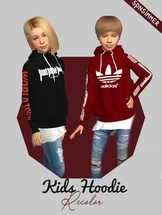 "spnsimmer: "" Kids Streetstyle Hoodie by spnsimmer • 10 Swatches • All Unisex • Motives: 2x Off White, 1x Adidas Calabasas, 1x Thrasher, 1x Purpose World Tour, 3x Adidas, 1x Stussy, 1x Yeezus Tour • Easy & Fast Downloads (no ads) • Mesh by..."