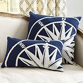 Compass Indoor/Outdoor Pillow
