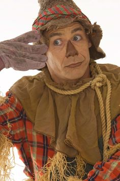 Dean Holt plays the Scarecrow in Children's Theatre Company's 2011-2012 production of The Wizard of Oz. Photo by Joan Buccina.
