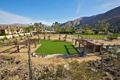 Palm Springs Vacation Rentals. Aerial View of Colony Venues #1 and #2. Perfect for any outdoor gatherings such as weddings.