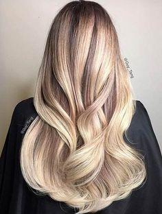 cheveux blond balayage