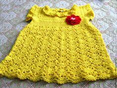 """Купить платье детское """"Солнышко"""" - платье для девочки, ручная работа, крючком, качественная пряжа"""