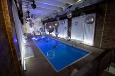 """""""Internet Week title sponsor Yahoo gathered some 100 business executives for a private event at a five-story loft townhouse in New York in May of 2012..."""" #NYC #indoorpool"""