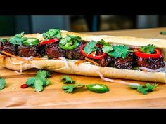 Mouthwatering Smoked Pork Belly Burnt Ends Banh Mi Pork Ham, Bbq Pork, Barbecue, Quick Appetizers, Appetizers For Party, Appetizer Ideas, Quick Pickled Vegetables, Pork Belly Burnt Ends, Pork Recipes