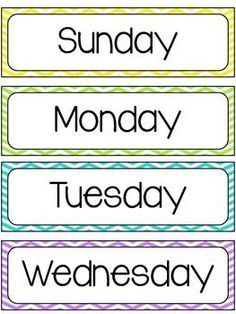 knowing what day of the week it is (seriously, don't even try to remember. Weeks are divided into Port Days and Sea Days). Classroom Calendar, Classroom Labels, Classroom Organisation, Classroom Themes, Classroom Management, Chevron Classroom, Toddler Classroom, Preschool Learning, Kindergarten Classroom