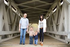 fun family photo idea, like the bridge