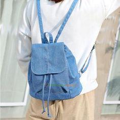 Women Girls Backpack Canvas Shoulder Handbag Bag Travel Satchel Rucksack Bookbag