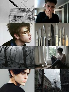 """Shadowhunter TID CharactersShadowhunter Aesthetics: Gabriel Lightwood  """"Gabriel, at eighteen, is a handsome boy with sharp and angular features, a watchful expression with large, bright green eyes and brown hair that is usually tousled. He is also tall and slender, emphasizing his height even more.""""Information Credits to: Shadowhunters Wiki >>> http://shadowhunters.wikia.com/"""