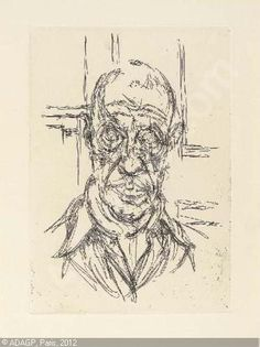 "Alberto Giacometti, ""Portrait de Michel Leiris"",  1961."