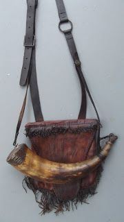 Contemporary Makers: Hunting pouch and Powder Horn by Eric Van Alstine