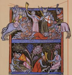 The last moments of Roland - miniature of the 13th century