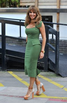 Share, rate and discuss pictures of Carol Vorderman's feet on wikiFeet - the most comprehensive celebrity feet database to ever have existed. Carol Vordeman, Celebrity Feet, Dresses For Work, Celebs, Chic, Wedge, Sexy, Fashion, Celebrities