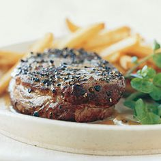 Pan-Seared Steak Au Poivre  You don't need to add much to tenderloin steaks to make them fabulous.