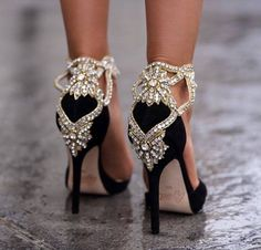 Aminah Abdul Jillil's Crystal Pump is a  must have for New Year's Eve!