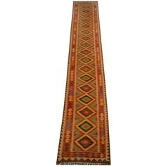 Herat Oriental Afghan Hand-woven Vegetable Dye Kilim Runner