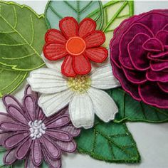 Embroider Shoppe brings us the 3D Flowers Collection, including Cosmos, Daisy, Gerbera and Rose.