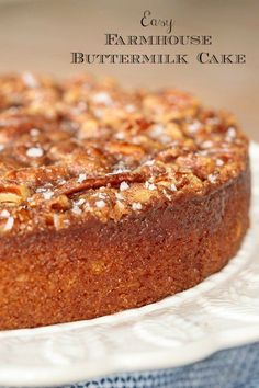 Everyone will flip over this moist, delicious buttermilk cake. My friends have n. Everyone will flip over this moist, delicious buttermilk cake. My friends Yummy Recipes, Sweet Recipes, Baking Recipes, Baking Desserts, Recipies, Fall Cake Recipes, Cafe Recipes, Cooker Recipes, Healthy Recipes