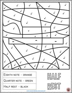 Music lessons | Music Activities: 16 Music Coloring Pages | music notes | #musiceducation #musiced