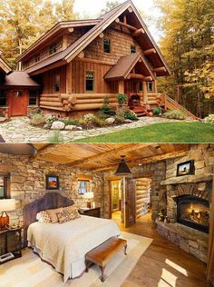 Why You Should Consider Buying a Log Cabin - Rustic Design Log Cabin Living, Log Cabin Homes, Log Cabins, Cabins In The Woods, House In The Woods, Dream Home Design, My Dream Home, Log Home Decorating, Decorating Tips