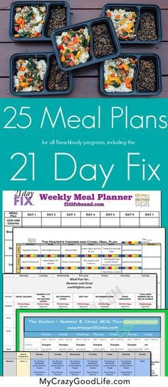 These 21 Day Fix meal plans are good for all of the other Beachbody programs, too! Hammer & Chisel, PiYo, Cize, and more.