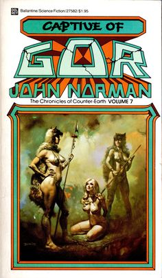 The Chronicles of Counter Earth / 7 / Captive of Gor by John Norman / Book cover (Boris Vallejo)