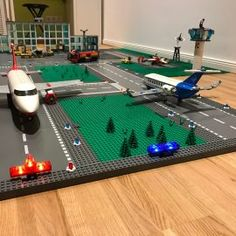 We just started our custom-built LEGO® City Skyline Airport Theme, Lego City Airport, Lego Skyscraper, Awesome Lego, Cool Lego Creations, Lego Architecture, Swing Tags, Batcave, Baileys