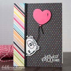 Card by SPARKS DT Lisa Arana PS stamp sets: Chubby Chums, Party Posse; PS dies: Chums, Big Balloons