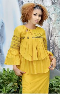 Tie A Necktie, Fashion Sewing, African Dress, African Fashion, Ruffle Blouse, Gowns, Elegant, Chic, Collection