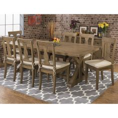 Mills Dining Table. Wood Dining TablesDining Room SetsReclaimed ...  sc 1 st  Pinterest & Valerie 63-inch Solid Wood Dining Table - Overstock Shopping - Great ...