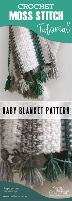 Learn one of the easiest crochet baby blanket patterns with this step-by-step tutorial! Free knitting patterns for baby blanket. #crochet #crocheting #babyblanket #freecrochetpattern baby